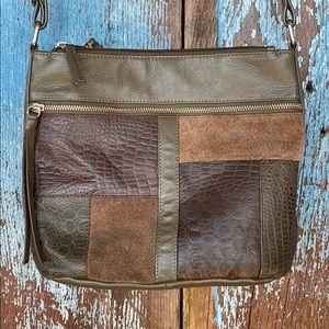 80's Patchwork Leather Crossbody Purse